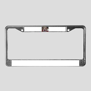 English Bulldog Valentine License Plate Frame