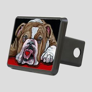 English Bulldog Valentine Rectangular Hitch Cover