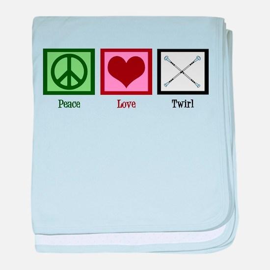 Peace Love Twirl baby blanket