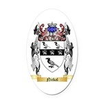 Nickal Oval Car Magnet