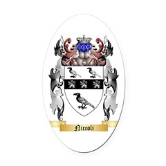 Niccoli Oval Car Magnet