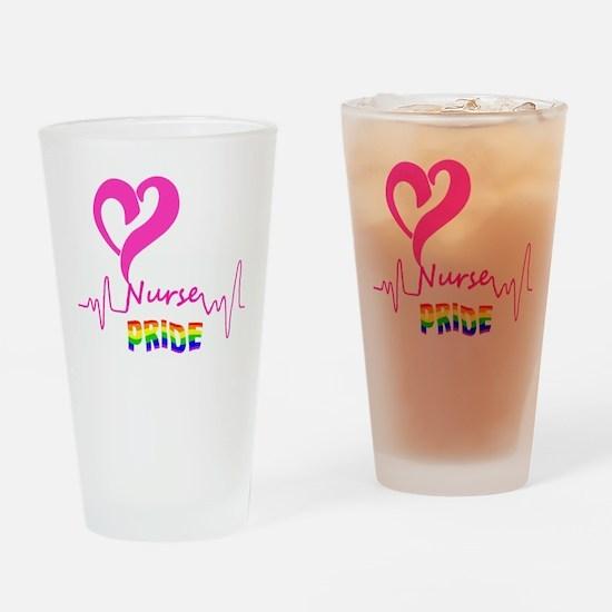 Nurse Heartbeat Pride Drinking Glass