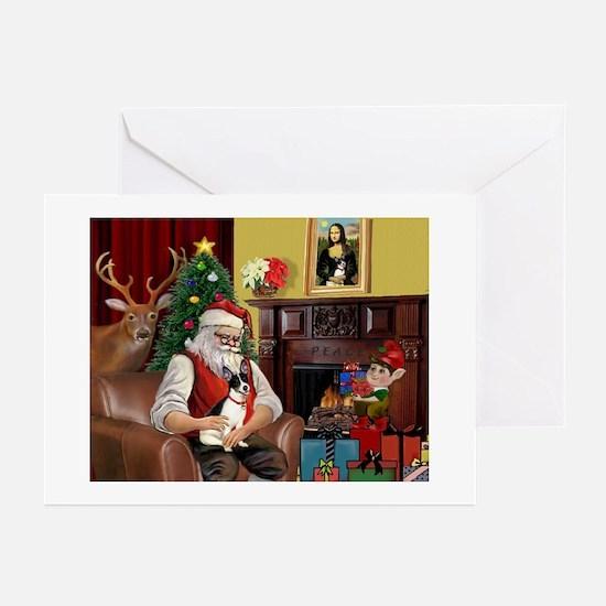 Santa's Rat Terrier Greeting Cards