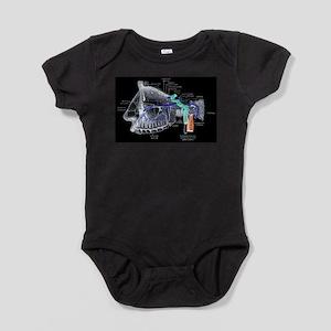 Maxillary Nerves Labeled Baby Bodysuit