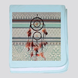 native tribal pattern dream catcher baby blanket