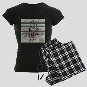 native tribal pattern dream Women's Dark Pajamas