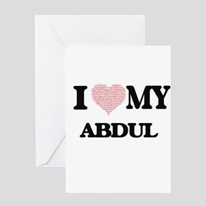 I Love my Abdul (Heart Made from Lo Greeting Cards