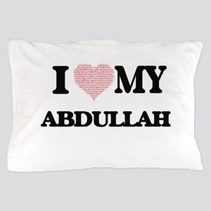I Love my Abdullah (Heart Made from Lo Pillow Case