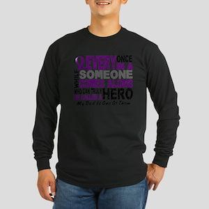 Hero Comes Along Dad Shirt Long Sleeve T-Shirt