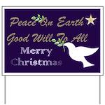 Christmas Dove Yard Sign