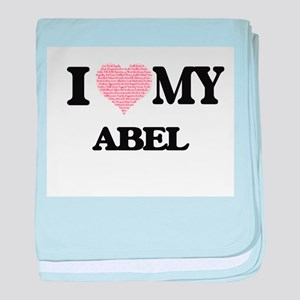 I Love my Abel (Heart Made from Love baby blanket