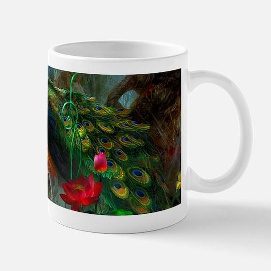 Beautiful Peacocks In Garden Mugs
