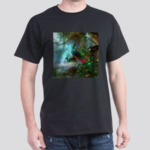 Beautiful Peacocks In Garden T-Shirt