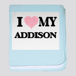 I Love my Addison (Heart Made from Lo baby blanket