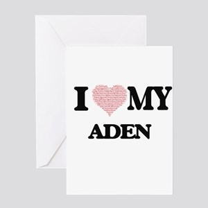 I Love my Aden (Heart Made from Lov Greeting Cards