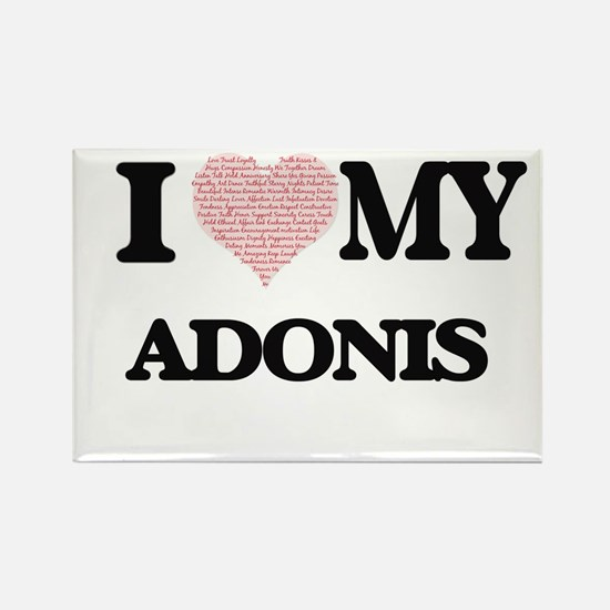 I Love my Adonis (Heart Made from Love my Magnets