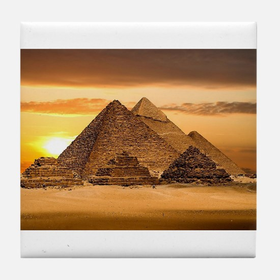Egyptian pyramids Tile Coaster