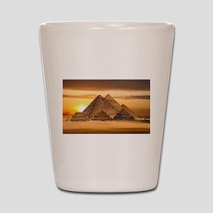 Egyptian pyramids Shot Glass