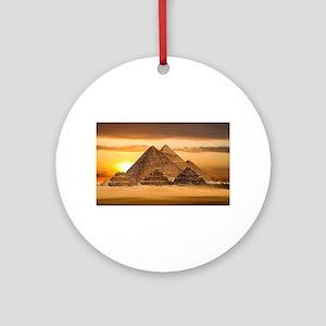 Egyptian pyramids Round Ornament