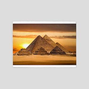 Egyptian pyramids 5'x7'Area Rug