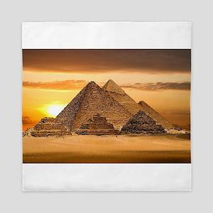 Egyptian pyramids Queen Duvet