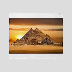 Egyptian pyramids Throw Blanket