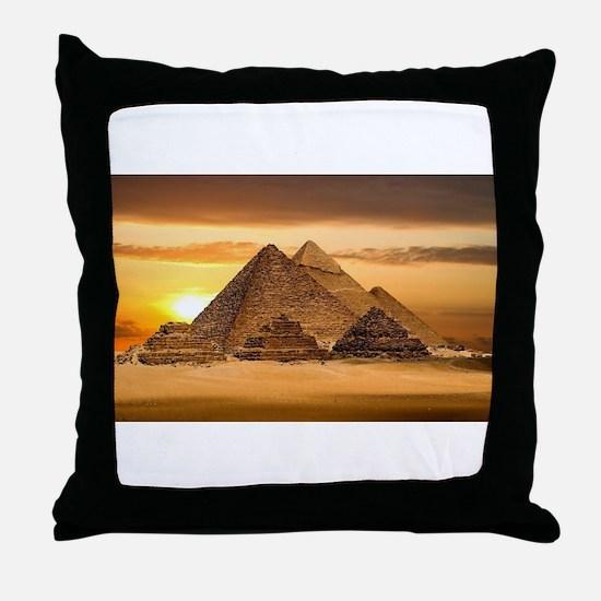 Egyptian pyramids Throw Pillow