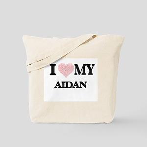 I Love my Aidan (Heart Made from Love my Tote Bag