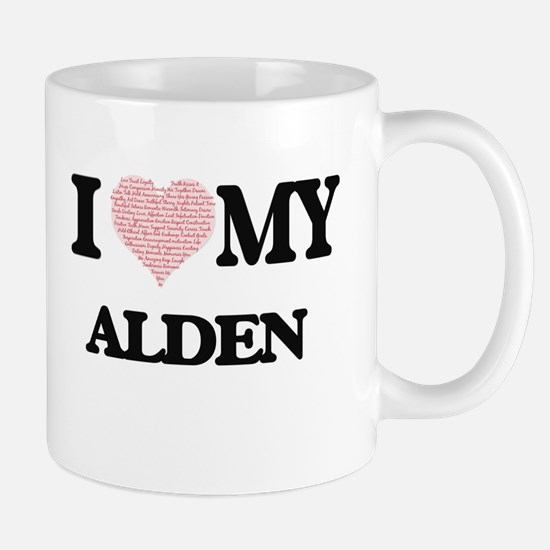 I Love my Alden (Heart Made from Love my word Mugs