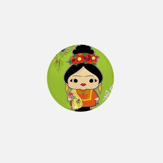 Frida Kahlo Mini Button