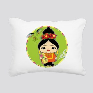 Frida Kahlo Rectangular Canvas Pillow