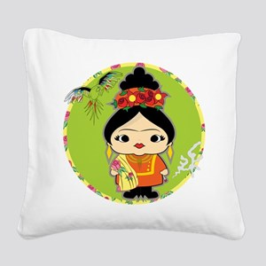 Frida Kahlo Square Canvas Pillow