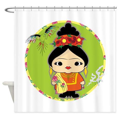 Frida Kahlo Shower Curtain By Kawaiicolorfulstore