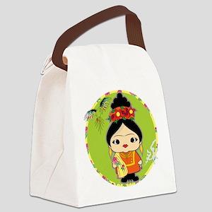 Frida Kahlo Canvas Lunch Bag