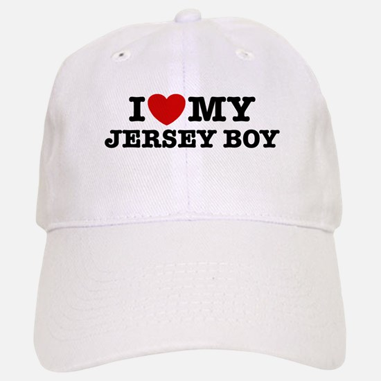 I Love My Jersey Boy Baseball Baseball Cap