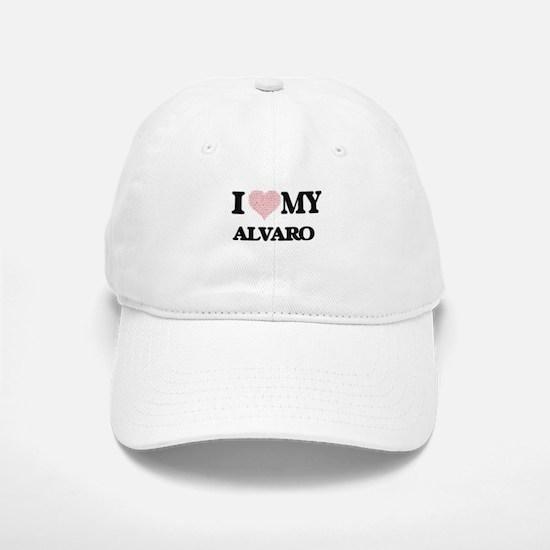 I Love my Alvaro (Heart Made from Love my word Baseball Baseball Cap