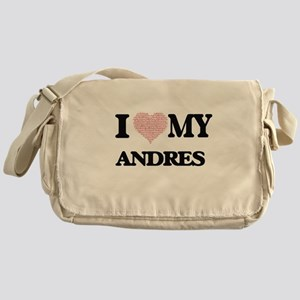 I Love my Andres (Heart Made from Lo Messenger Bag