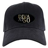 Diva at 50 Baseball Cap with Patch