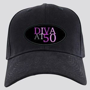 Diva At 50 Birthday Black Cap