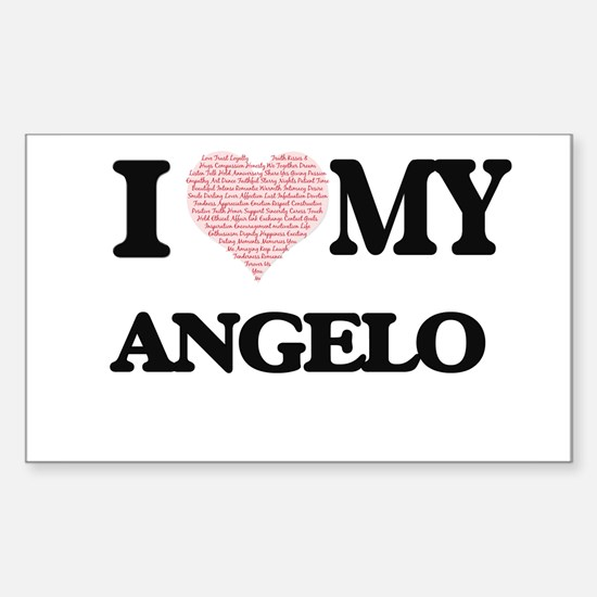 I Love my Angelo (Heart Made from Love my Decal