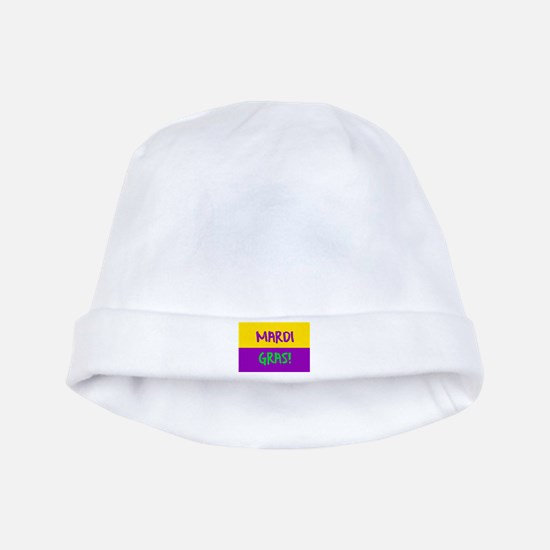 Mardi Gras purple gold baby hat