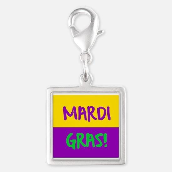 Mardi Gras purple gold Charms