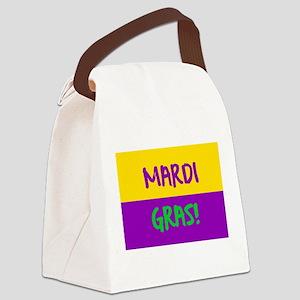 Mardi Gras purple gold Canvas Lunch Bag