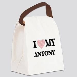 I Love my Antony (Heart Made from Canvas Lunch Bag