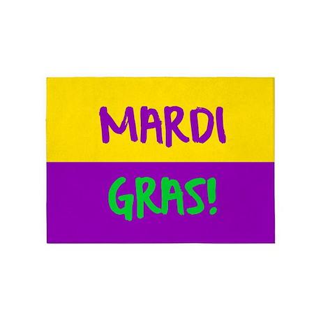 Mardi Gras Purple Gold 5 X7 Area Rug By Admin Cp129519821