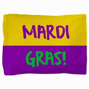 Mardi Gras purple gold Pillow Sham