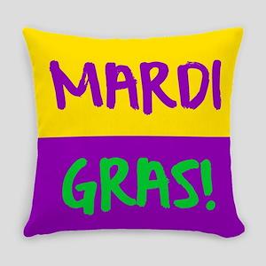 Mardi Gras purple gold Everyday Pillow
