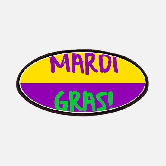 Mardi Gras purple gold Patch