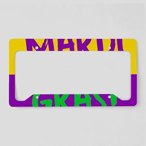 Mardi Gras purple gold License Plate Holder