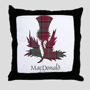 Thistle - MacDonald of Glencoe Throw Pillow